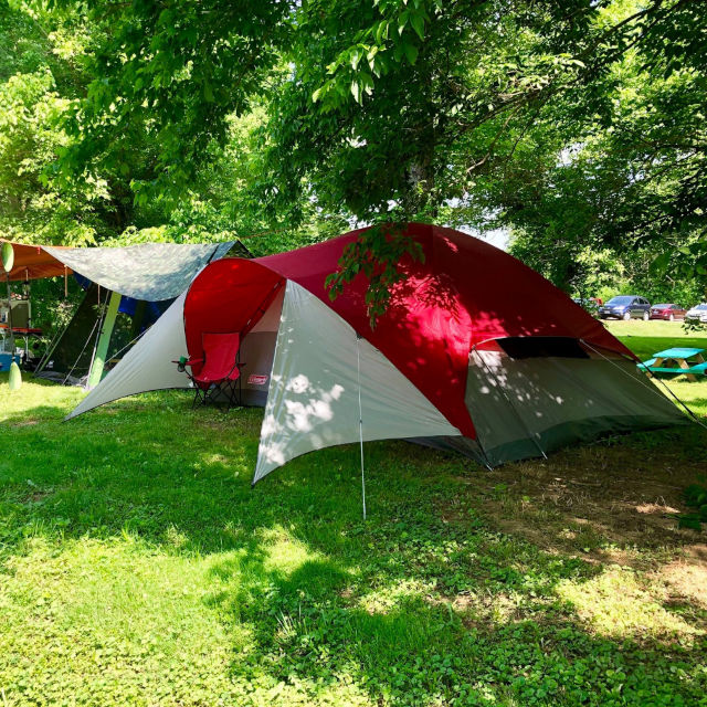 Campsite along the Hocking River