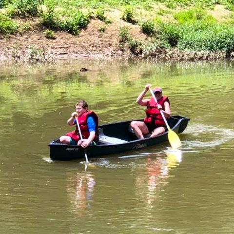 Canoe on Hocking River
