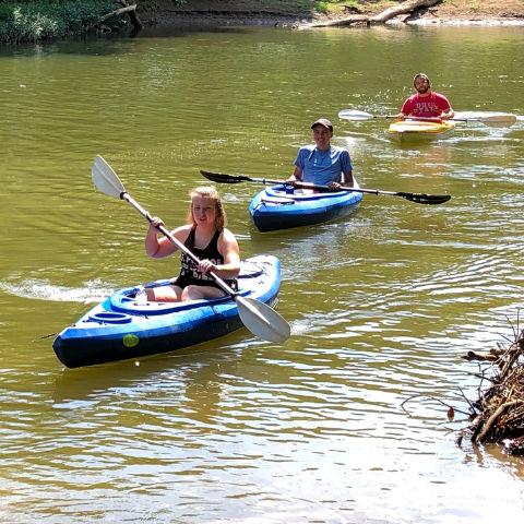 Kayak on Hocking River